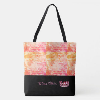 Miss USA Pink Crown Tote Bag  Sunset Camo