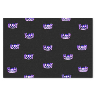 Miss USA Purple Crown Tissue Paper