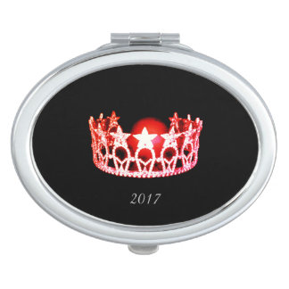 Miss USA Red Crown Compact Mirror w/Date