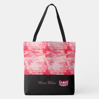 Miss USA Red Crown Tote Bag LRGE Red Camo