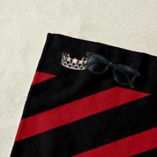 Miss USA Red Stripe Crown Beach Towel