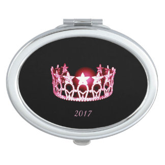Miss USA Rose Crown Compact Mirror w/Date