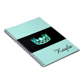 Miss USA Sea Green Crown Notebook- Custom Name Notebook