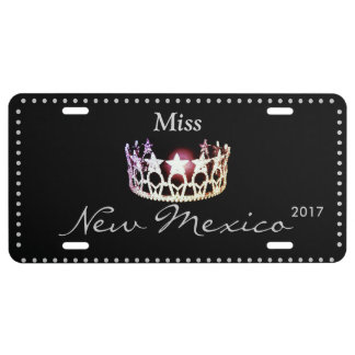 Miss USA Silver Crown Aluminum License Plate
