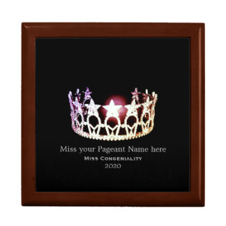 Miss USA Silver Crown Awards Jewelry Box