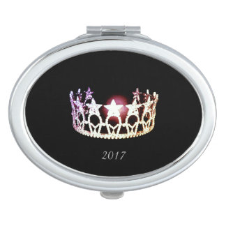 Miss USA Silver Crown Compact Mirror w/Date