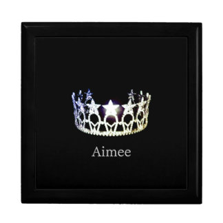 Miss USA Silver Crown Custom Name Jewelry Box
