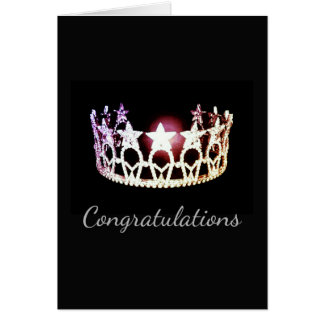 Miss USA Silver Crown Greeting Card-Congrats Card