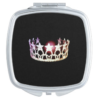 Miss USA Silver Crown Mirror Compact Vanity Mirror