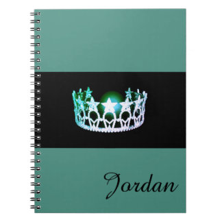 Miss USA Silver Crown Notebook Custom Name