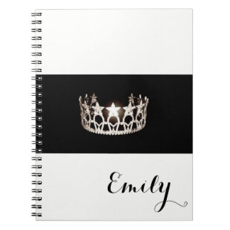 Miss USA Silver Crown Notebook- Custom Name Notebook