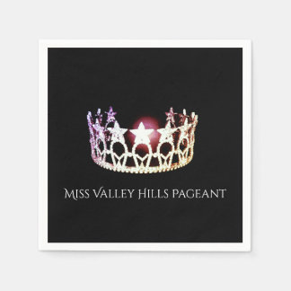 Miss USA Silver Crown Paper Napkins