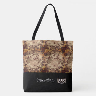 Miss USA Silver Crown Tote Bag LRGE Brown Camo