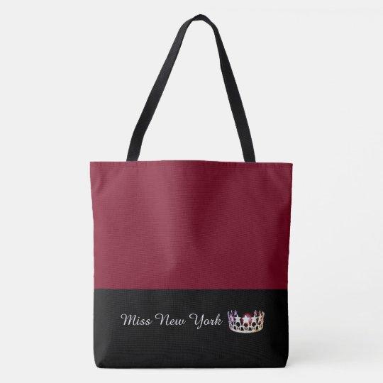 Miss USA Silver Crown Tote Bag-LRGE Crimson