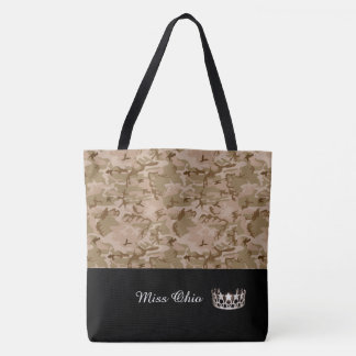 Miss USA Silver Crown Tote Bag LRGE DSRT Camo