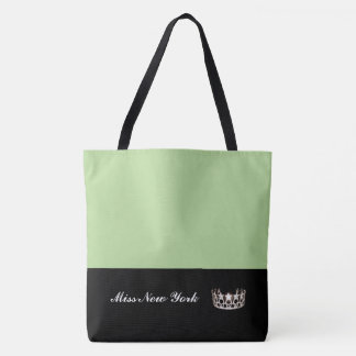 Miss USA Silver Crown Tote Bag-LRGE Honeydew