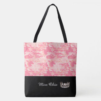 Miss USA Silver Crown Tote Bag LRGE Pink Camo