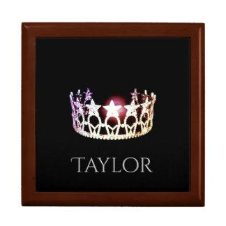 Miss USA SLVR Crown Personal Name Jewerly Box Trinket Box