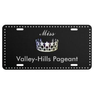 Miss USA Star Crown Aluminum License Plate