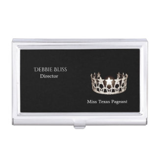 Miss USA State Silver Crown Business Card Holder