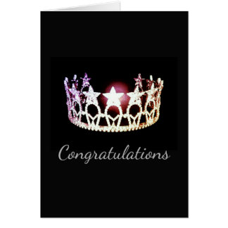 Miss USA state Silver Crown Greeting Card-Congrats Card