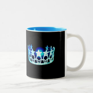 Miss USA style Aqua Turquoise Crown  Mug