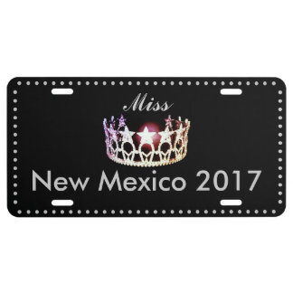 Miss USA style Crown Aluminum License Plate