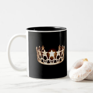 Miss USA style Gold Crown Mug