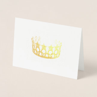 Miss USA Style Gold Foiled Crown Card
