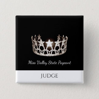 Miss USA Style Judges Custom Button Pin