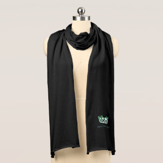 Miss USA Unisex Teal Crown Knit Scarf