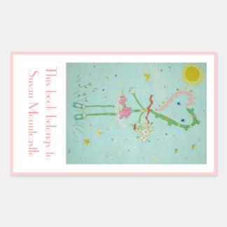 Miss Valentine bookplate Sticker