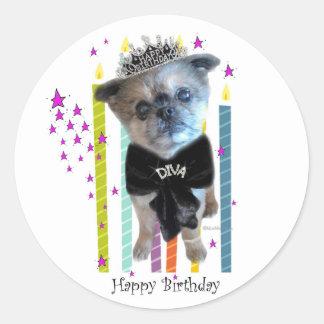 Miss Winkie, The Diva Birthday Stickers