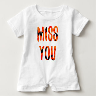 Miss you baby romper
