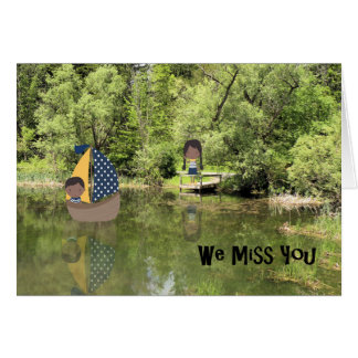 Miss You Card for Two Children at Summer Camp