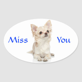 Miss You Chihuahua Puppy Sticker