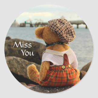 Miss You Classic Round Sticker