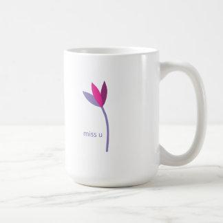 miss you flower coffee mug