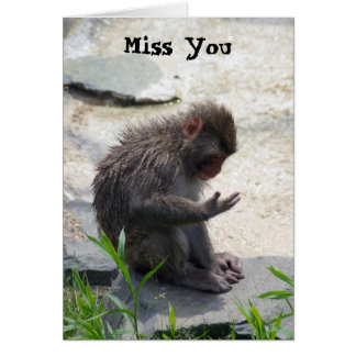 Miss You Monkey Card