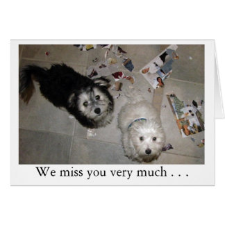 Miss You Puppies Card