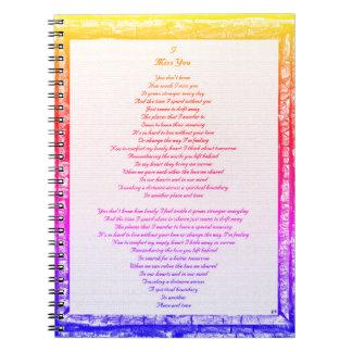 Miss You Spiral Notebook