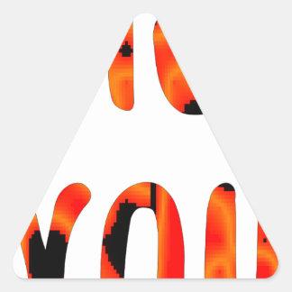 Miss you triangle sticker