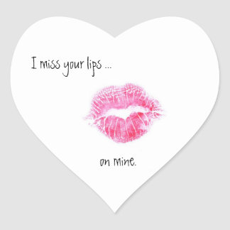 Miss your lips sticker
