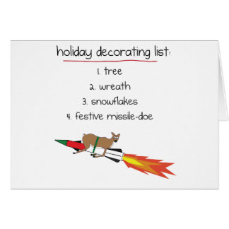 Missile-Doe - Funny Holiday Greeting Cards