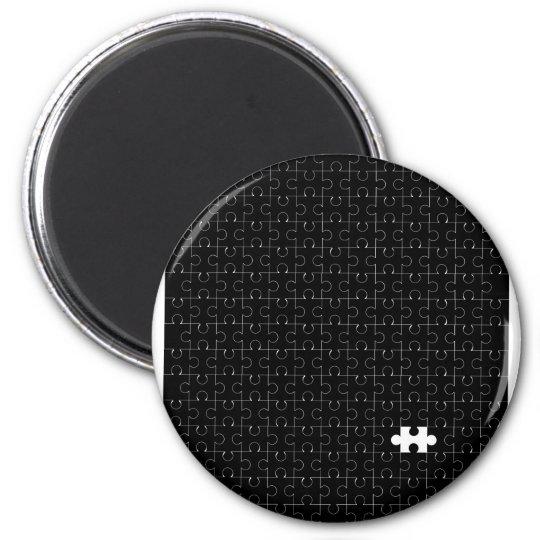Missing Piece 2 Inch Round Magnet