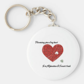 Missing Piece Afghanistan Keychain