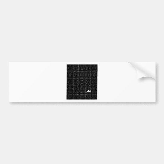 Missing Piece Bumper Sticker