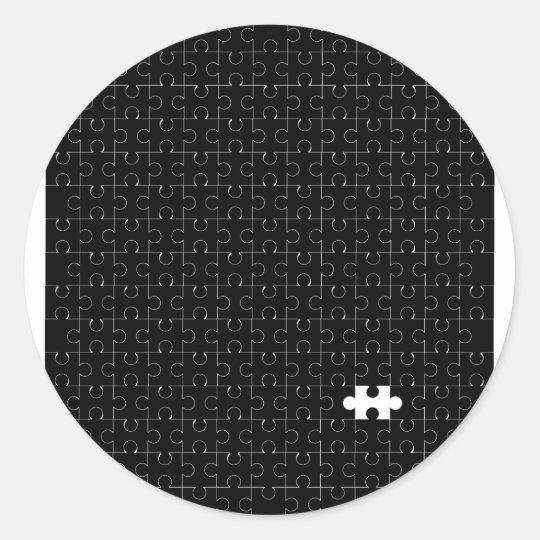 Missing Piece Classic Round Sticker