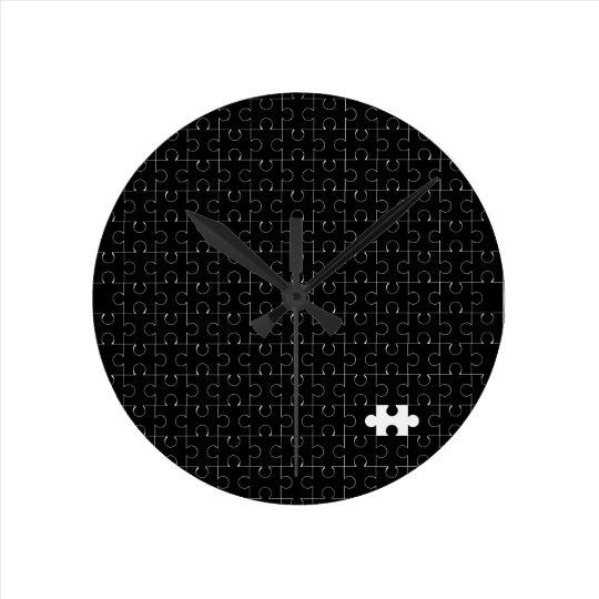 Missing Piece Round Clock