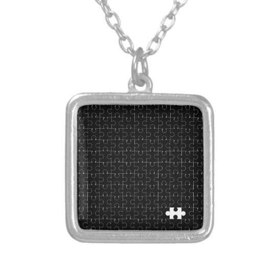 Missing Piece Silver Plated Necklace
